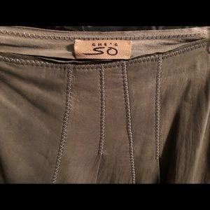 Italian Pelle Leather long skirt